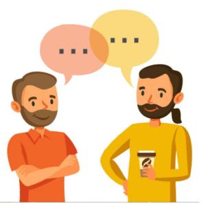 discussion entre deux personnes