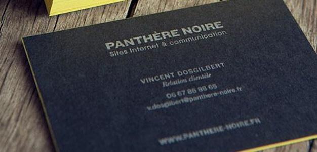 carte de visite Pantère Noire