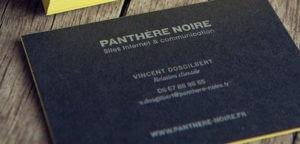 carte de visite Panthère Noire