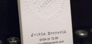 carte de visite Joakim Hovrevik
