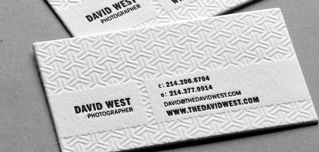carte de visite David West